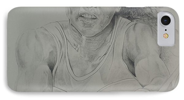 Serena Williams IPhone Case by DMo Herr