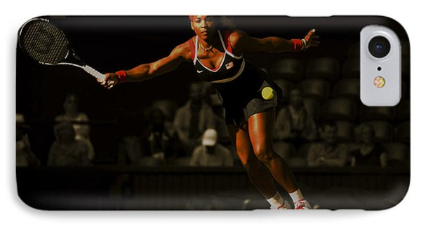 Serena Williams Grace IPhone Case by Brian Reaves