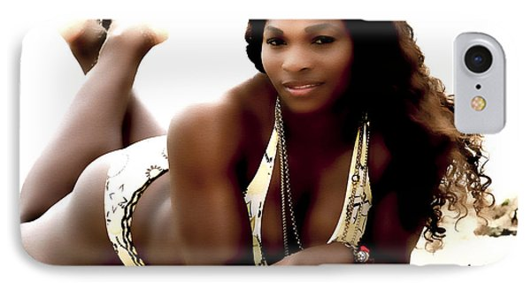 Serena Williams In The Sand IPhone Case by Brian Reaves