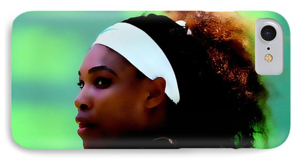 Serena Williams Match Point IPhone Case by Brian Reaves