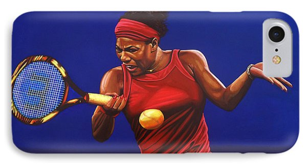 Serena Williams Painting IPhone 7 Case by Paul Meijering