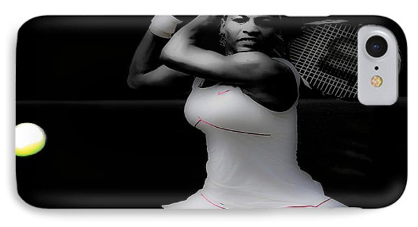 Serena Williams Power Stance IPhone Case by Brian Reaves