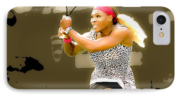 Serena Williams Standing Out IPhone Case by Brian Reaves