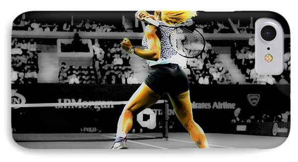 Serena Williams Return IPhone Case by Brian Reaves