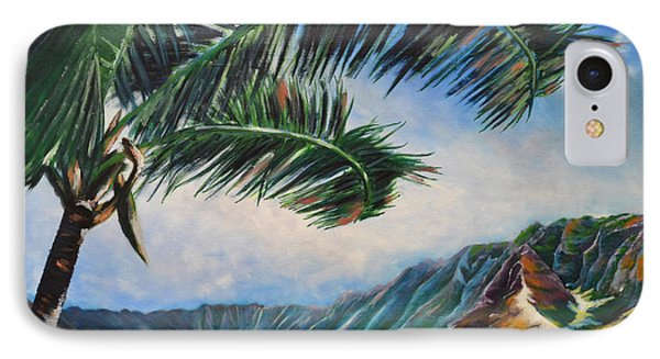 Serene Beauty Of Makua Valley Phone Case by Larry Geyrozaga