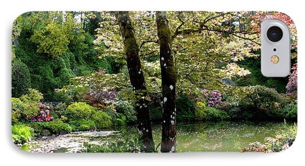 Serene Garden Retreat IPhone Case