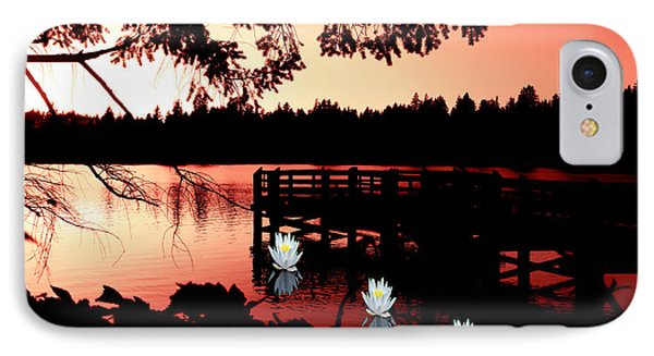 Serene Scene At Lake Ballinger IPhone Case