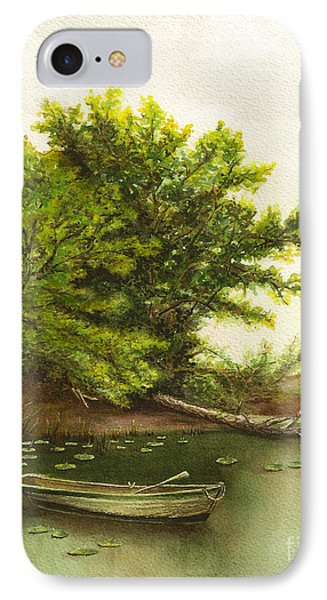 IPhone Case featuring the painting Serene Solitude by Nan Wright