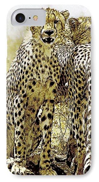 Serengeti Cheetahs 2 IPhone Case