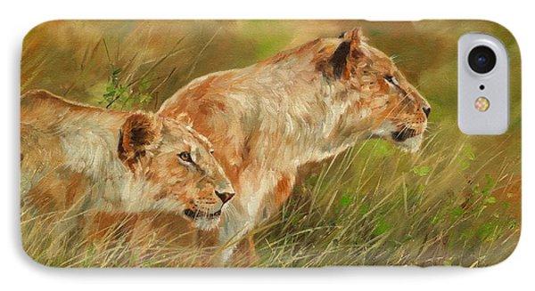 Serengeti Sisters Phone Case by David Stribbling