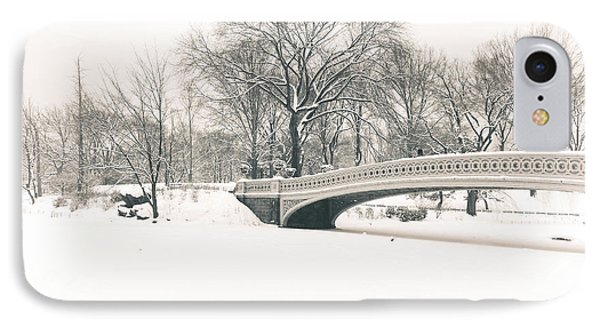 Serenity - Bow Bridge In The Snow - Central Park IPhone Case