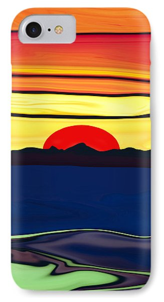 Serenity Lake Sunset IPhone Case by Haleh Mahbod
