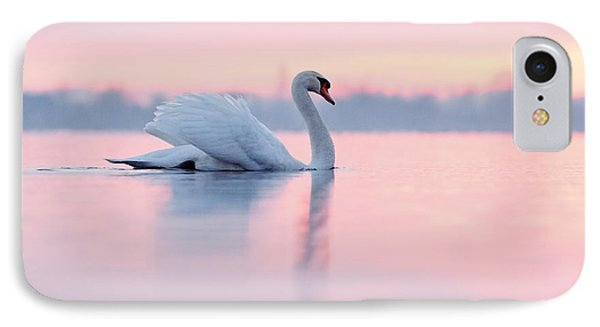 Serenity   Mute Swan At Sunset IPhone 7 Case