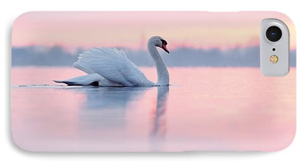 Serenity   Mute Swan At Sunset IPhone Case