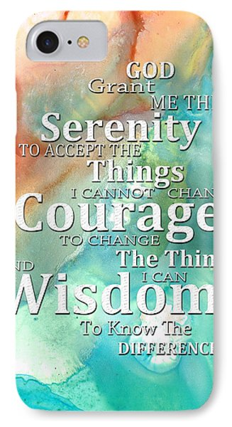 Serenity Prayer 1 - By Sharon Cummings Phone Case by Sharon Cummings