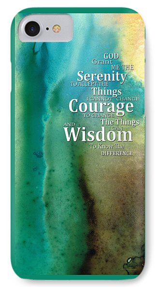 Serenity Prayer 2 - By Sharon Cummings Phone Case by Sharon Cummings