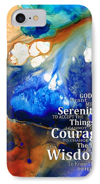 Serenity Prayer 4 - By Sharon Cummings Phone Case by Sharon Cummings