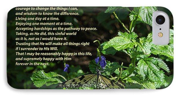 Serenity Prayer - Long Form With Butterfly Photograph by Jeanette ...
