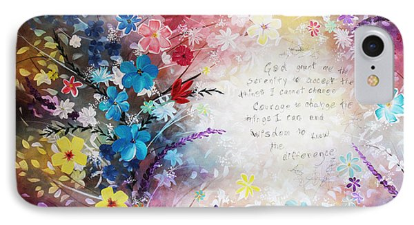 IPhone Case featuring the painting Serenity Prayer by Patricia Lintner