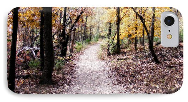 IPhone Case featuring the photograph Serenity Walk In The Woods by Peggy Franz
