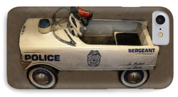 Sergeant Pedal Car Phone Case by Michelle Calkins