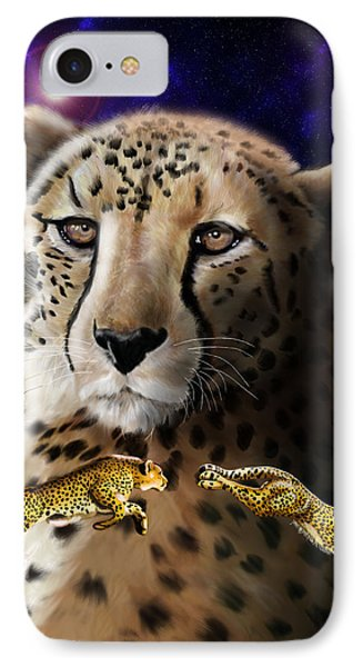 First In The Big Cat Series - Cheetah IPhone Case by Thomas J Herring