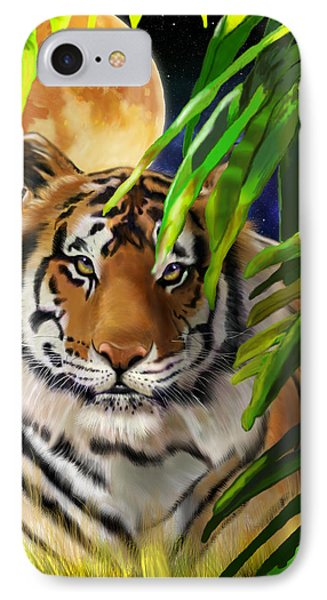 Second In The Big Cat Series - Tiger IPhone Case by Thomas J Herring