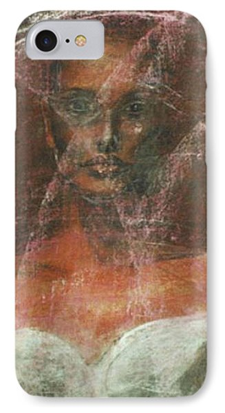 IPhone Case featuring the painting Serious Bride Mirage  by Jarmo Korhonen aka Jarko