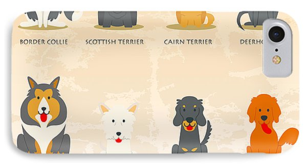 Set Of Scottish Dogs  IPhone Case by Don Kuing