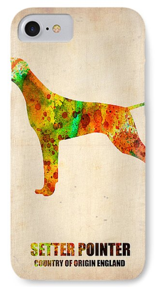 Setter Pointer Poster Phone Case by Naxart Studio