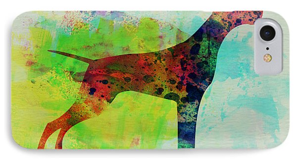 Setter Pointer Watercolor IPhone Case by Naxart Studio
