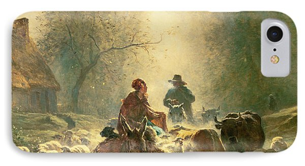 Setting Off For Market IPhone Case by Constant-Emile Troyon