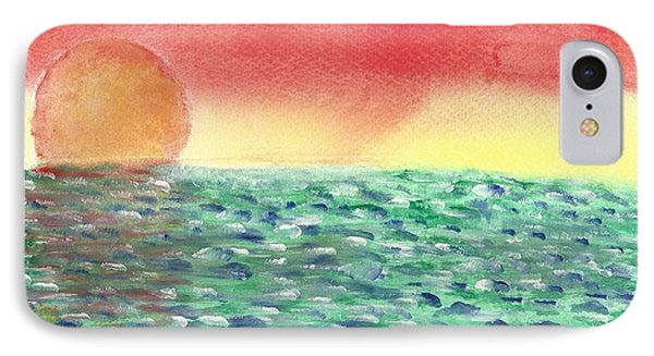 IPhone Case featuring the painting Setting Sea by John Williams