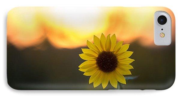 Setting Sun Flower IPhone Case