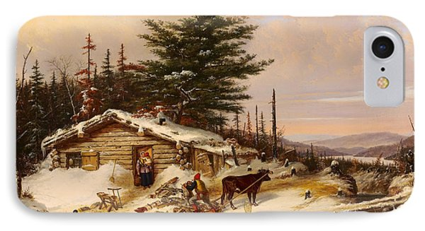Settler's Log House IPhone Case by Mountain Dreams