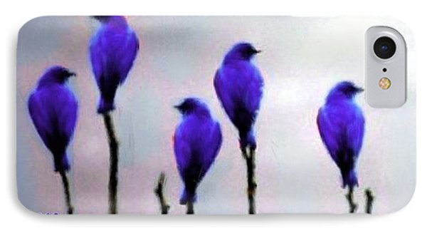 Seven Birds Of Purple Phone Case by Bruce Nutting