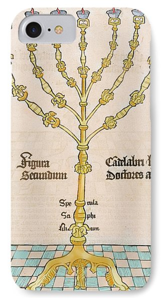 Seven-branched Candelabrum Or Menorah IPhone Case by Prisma Archivo