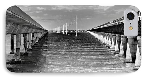 seven mile bridge BW Phone Case by Rudy Umans