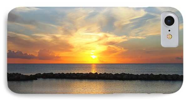 IPhone Case featuring the photograph Seven Mile Sunset Over Grand Cayman by Amy McDaniel