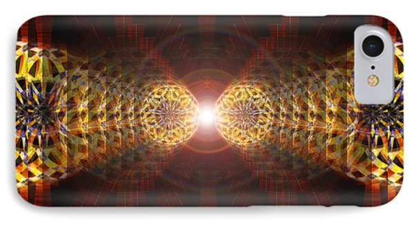 IPhone Case featuring the drawing Seven Sacred Steps Of Light by Derek Gedney
