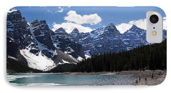 Seven Sisters At Moraine Lake Phone Case by Angela Boyko