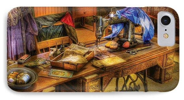 Sewing Machine  - Sewing Machine Iv Phone Case by Mike Savad