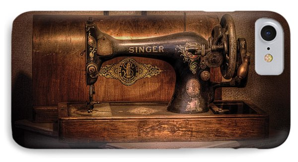 Sewing Machine  - Singer  IPhone Case by Mike Savad