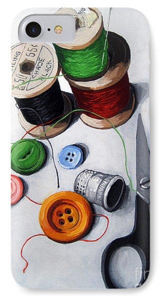 Sewing Memories IPhone Case by Linda Apple