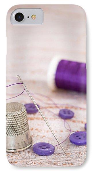 Sewing Thimble IPhone Case by Amanda Elwell