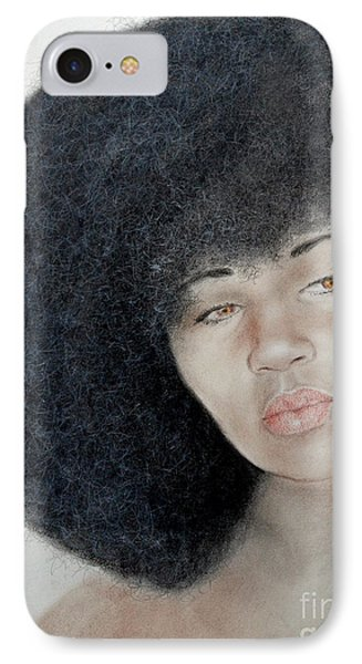 Sexy Aevin Dugas Holder Of The Guinness Book Of World Records For The Largest Afro Phone Case by Jim Fitzpatrick