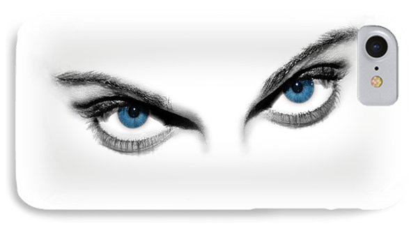 Sexy Blue Eyes  Phone Case by Jt PhotoDesign