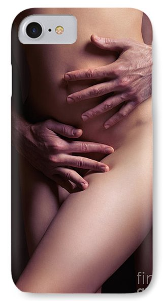 Sexy Nude Couple Embracing IPhone Case