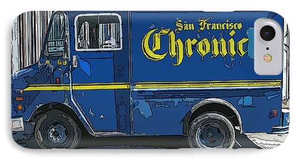 IPhone Case featuring the photograph Sf Chronic Truck For Sale by Samuel Sheats