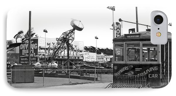 Sf Streetcar At Playland IPhone Case by Underwood Archives